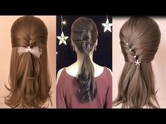 10 Easy Hairstyles For Long Hair/Amazing Bridal Hairstyles Tutorial/ Pei. Easy Hairstyles For Medium Hair, Trendy Hairstyles, Medium Hair Styles, Girl Hairstyles, Braided Hairstyles, Wedding Hairstyles, Short Hair Styles, Natural Hair Styles, Amazing Hairstyles