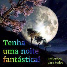 """Boa noite! Com uma linda lua iluminando a noite! Acesse o lindo """"Poema da Noite""""."""