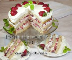 You can Freeze the layers easily and have a picture perfect cake ready at the drop of a hat! Connie's Danish Heirloom Layer Cake Ingredients: 1/2 cup vanilla yogurt (low fat or greek yogurt) 1/2 cu...