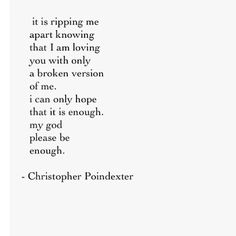 Christopher Poindexter...it isn't enough. Desperately wanted it to be. Alas...