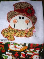 PANO DE PRATO NATAL 04 (Bella Pata by Elisa) Tags: santa christmas dog chicken natal cat galinha pano gato cachorro avental papainoel applique anjo aplicao patchcolagem panodeprato bellapata
