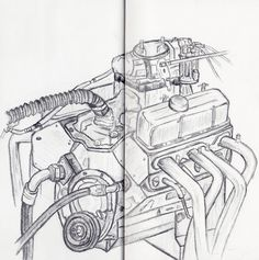 Car engine drawing, 12th July deadline 12th July, Drawings Pinterest, Ap Studio Art, Summer Work, Gcse Art, Car Engine, Technical Drawing, Play Houses, Art Studios