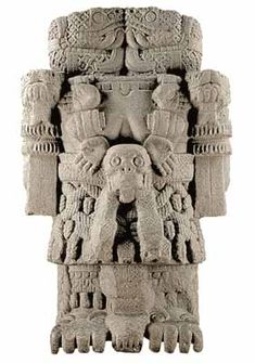"Aztec  Coatlicue, also known as Teteoinan  (""The Mother of Gods""), is the Aztec goddess who gave birth to the moon, stars, and Huitzilopochtli, the god of the sun and war. She is also known as Toci, (""Our Grandmother""), and Cihuacoatl, (""The Lady of the serpent""), the patron of women who die in childbirth."