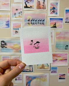 Watercolor Cards, Watercolour Painting, Painting & Drawing, Watercolors, Small Canvas Art, Mini Canvas Art, Art Mini Toile, Art Sketches, Art Drawings