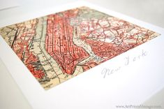 Personalized Map New Home Housewarming Gift by ArtPrintsVintage