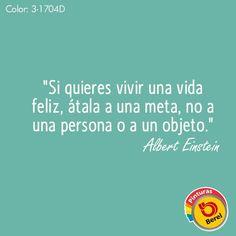 """""""Si quieres vivir una vida feliz, átala a una meta, no a una persona o a un objeto"""" #Cita"""
