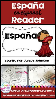 España Reader {Spain en español} & Vocab work ~ Simplified for Language Learners Spanish Classroom, Teaching Spanish, Spain Country, Learning Resources, Teaching Ideas, Spanish Speaking Countries, Spanish Culture, Emergent Readers, Dual Language