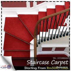 Other for sale, in Klang, Selangor, Malaysia. Staircase Carpet to give Modern Look to Stairs Price Starting From Steps We offer q. id: 821772 Carpets Online, Flooring For Stairs, Basement Stairs, Beautiful Stairs, Beautiful Homes, Office Carpet