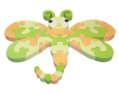 Dragonfly - Handcrafted Children's Wooden 3D Puzzle - Ready to ship