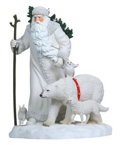 Another great find on #zulily! Arctic Santa & Polar Bear Statue #zulilyfinds