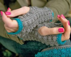 HanJanCrafts: HanJan Fingerless Mitts and Boot Cuffs in Simply Crochet...