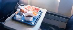 PHOTO: Airline food tray is pictured in this undated stock photo.