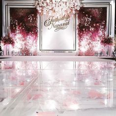 New wedding ceremony backdrop indoor backgrounds photo booths ideas Wedding Stage Decorations, Wedding Ceremony Backdrop, Wedding Themes, Wedding Designs, Wedding Venues, Flower Wall Wedding, Wedding Wall, Floral Wedding, Backdrop Design