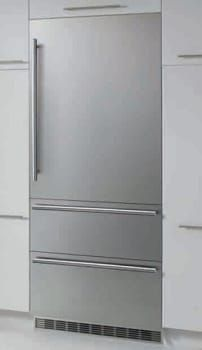 Liebherr HC2061 36 Inch Fully-Integrated Bottom-Freezer Refrigerator with 19.4 cu. ft. Capacity, Adjustable Glass Shelves, Gallon Door Storage, Full-Width Deli Drawer, Double Freezer Drawers, Energy Star Rated and Panel Ready: Left Hinge Door