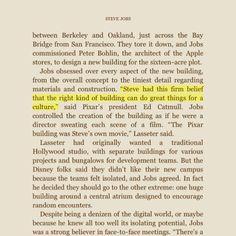 Steve Jobs on offices..