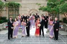 Our DC multicultural wedding - wedding party; Indian Bridal Party, Bridal Party Poses, Big Fat Indian Wedding, South Asian Wedding, Indian Destination Wedding, Sikh Wedding, Punjabi Wedding, Purple Wedding, Bridesmaid Saree
