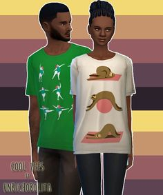 Cool tees at Un bichobolita • Sims 4 Updates