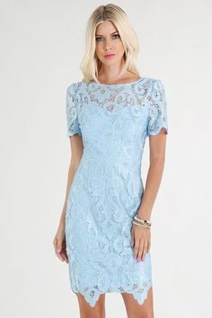 The adorable blue skies dress comes in a 100% light blue polyester. This dress is sure to show off your girl power while helping you stand out in the office. Pair with a white blazer and kitten heels