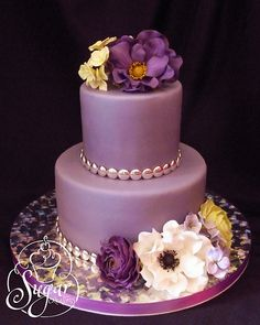 purple birthday cake... a pretty and different color scheme.