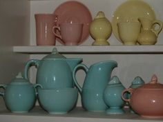 Bella Rosa Antiques: LuRay Pastels ~ Lovely Display Dishes