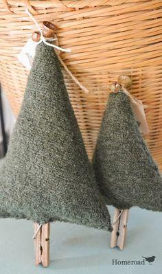 Hometalk :: Boiled Wool Christmas Tree Upcycle