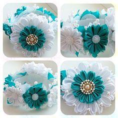 Одноклассники Kanzashi Flowers, Diy Flowers, Fabric Flowers, Fabric Flower Headbands, Baby Headbands, Bun Wrap, Diy And Crafts, Arts And Crafts, Flower Center