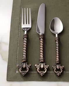 20-Piece Fleur-de-Lis Flatware Service by GG Collection at Neiman Marcus.
