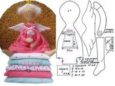 """Many patterns of toys and dolls: Diary of the """"Tilda dolls and other toys primitive"""": Groups - female social network myJulia. Doll Crafts, Sewing Crafts, Sewing Projects, Doll Clothes Patterns, Doll Patterns, Doll Toys, Baby Dolls, Tilda Toy, Sewing Dolls"""