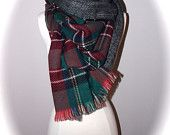 Double side plaid scarf/oblong scarf/Christmas scarf