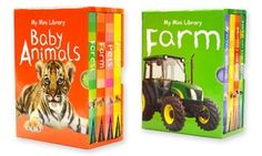 Cute, colorful board books help teach children about life on the farm or cuddly baby animals