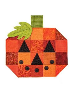 """Easy place mats for fall!   Set a not-so-spooky table everyone will love. Great for scraps. Place mats are 15"""" x 15"""" when finished.:"""