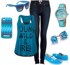 """Something Blue"" by oneovaakind on Polyvore"