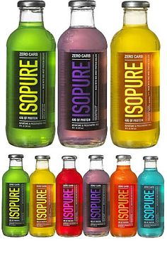 Isopure Protein Drinks 40 grams of protein, zero carbs and my fav is the green tea.