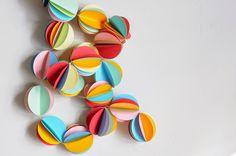a pretty cool life.: diy: rainbow circle punch garland