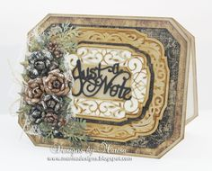 Designs by Marisa: Craft Hoarders Anonymous Hop - Just a Note Card