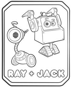 Ausmalbilder Rusty Rivets Ruby und Rusty 835923759358