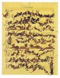 The Cats Symphony, by Moritz von Schwind, 1868