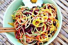 colorful raw noodles