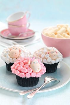 Pink Sheep cupcakes for baby shower?