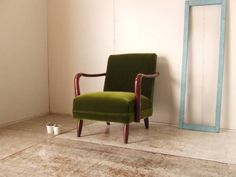 生地張替 古い木のアームソファー3アンティークレトロ椅子 Antique chair ¥1100yen 〆04月08日