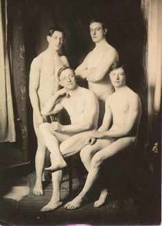 Vintage nude men in the 1920s