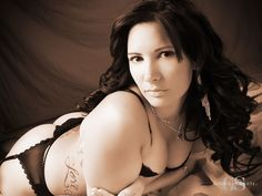 A sexy, sepia portrait from Glamour Shots! #boudoir