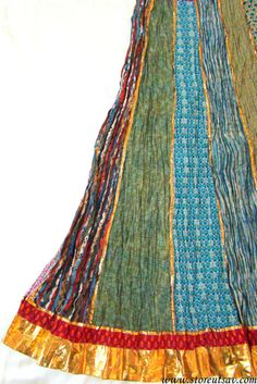 Long Skirt Gypsy Maxi Boho Multicolored Organic Cotton Block Printed Jaipuri Indian Ethnic from Rajasthan in West India