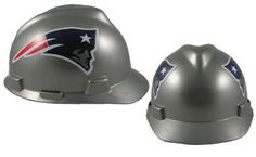 MSA NFL Ratchet Suspension Hardhats - New England Patriots  http://allstarsportsfan.com/product/msa-nfl-ratchet-suspension-hardhats/?attribute_pa_color=new-england-patriots  Great way to show your team spirit for your favorite NFL team Perfect to wear on the job or at the game Makes a great gift for any football fan