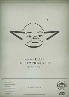 May The Force of Typography