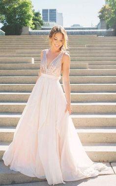 long bridesmaid dress,v-neck bridesmaid dress,sleeveless bridesmaid dress,chiffon bridesmaid dress,backless bridesmaid dress,sparkly bridesmaid dress,cheap bridesmaid dress,17137