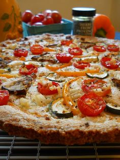 Ratatouille Tart with Herbed Almond Flour Crust - Gluten Free, Vegetarian