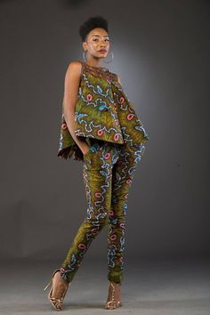 African Ankara Jumpsuit Designs Here we accept Ankara Jumpsuit Designs for this season! We accept anxiously called the New Ankara Jumpsuit designs African Fashion Designers, African Inspired Fashion, African Print Fashion, Africa Fashion, African Print Dresses, African Fashion Dresses, African Dress, African Print Pants, Ankara Fashion