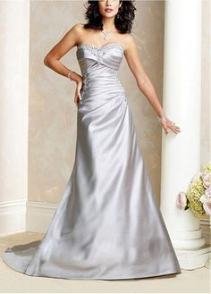 LACE BRIDESMAID PARTY BALL EVENING GOWN IVORY WHITE FORMAL PROM ELEGANT SATIN A-LINE SWEETHEART WEDDING DRESS