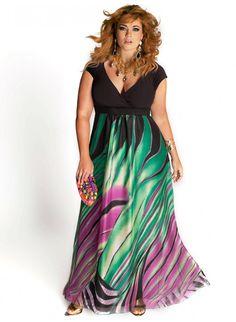 Rainforest Paradise Plus Size Maxi Dress